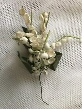 Vintage Lily of the Valley Bouquet Embellishment for Hat-Life Size