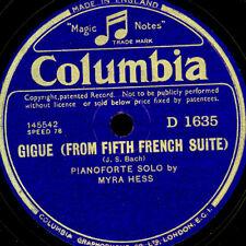 MYRA HESS -PIANO- J.S.Bach: Gigue / Jesu, joy of man's desiring    78rpm S9546