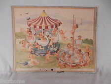 Unique Antique 11x14 Print  Little Old Woman's  So Many Children on a Carousel
