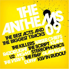 THE ANTHEMS 09 NEW  2CD KILLERS,U2,STONE ROSES,KEANE,OASIS,THE SCRIPT VERVE Etc
