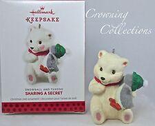 2013 Hallmark Snowball and Tuxedo Sharing a Secret Keepsake Ornament Penguin NIB