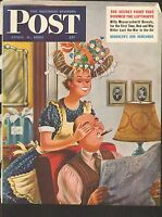 APRIL 8 1950 SATURDAY EVENING POST magazine cover print - EYES COVERED
