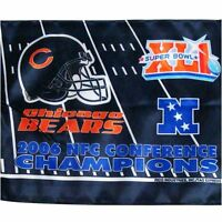 NFL Chicago BEARS  Car Flag 2006 NFC Conference Championship Auto Flag - GR116