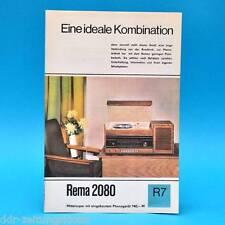 Rema 2080 Mittelsuper DDR 1968 | Prospekt Werbung DEWAG Werbeblatt R7 E