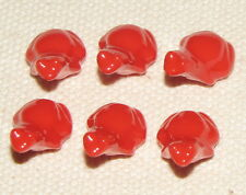 LEGO LOT OF 6 BRIGHT RED FROGS ANIMALS TOADS FIGURES