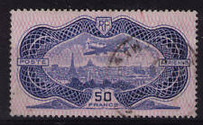 """es - France 1936 Poste Aérienne n°15, 50f """"Burelé"""", Sup"""