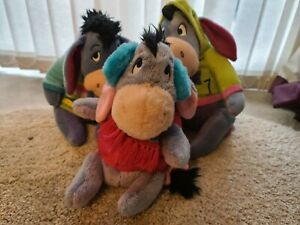 Eeyore plush soft toys - set of 3
