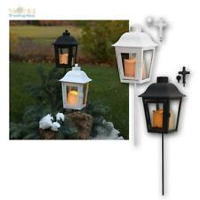 Grab-Laterne, LED Kerze mit Tag/Nacht-Sensor, Kreuz Deko, Dekoration Windlicht