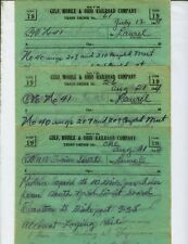 GULF, MOBILE & OHIO RR GM&O TRAIN ORDERS  (14)  LAUREL, MISSISSIPPI  1944-1949.