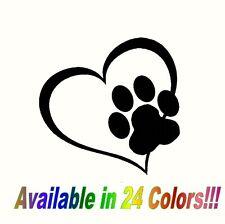 Heart Paw Vinyl Decal Sticker for Car Truck Bumper Window Adopt Cat Dog laptop