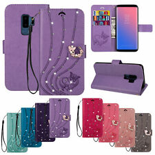 For Samsung Galaxy S10E Note 10 9 8 Bling Flip Leather Wallet Phone Case Cover