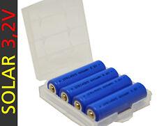 kompatibel zu Duracell Solar Lithium Phosphat 14500 3,2V 600mAh 14335 Akku