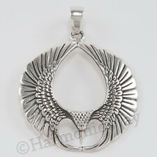 PHOENIX RISING MYTHICAL FIRE BIRD talisman amulet Pendant 925 Sterling Silver