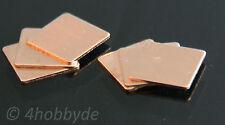 6 cuivre plaquettes 0,8mm kupferpad chaleur chef CPU wärmeleitplättchen thermique GPU