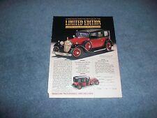 Franklin Mint 1935 Mercedes-Benz 770K Vintage Die-Cast Ad Limousine
