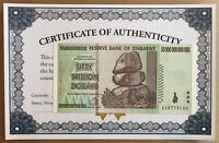 Zimbabwe 50 Trillion ZIM Dollar AA 2008 Serie P90 UNC UV Passed With Certificate