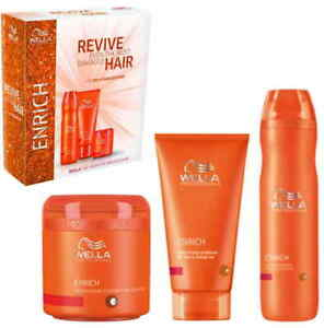 Wella Professionals Enrich Trio Pack (Shampoo + Conditioner + Treatment)