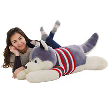 hot Siberian Husky Plush doll Giant big Huge Bear Soft Smiling Cuddly Gift 120cm