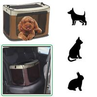 Soft Fold Away Dog Puppy Pet Travel Crate Cat Rabbit Carrier Car Transport Cage