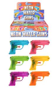 Neon Water Gun (11cm) - Party Bag Fillers - Packs of 10, 20 or 30