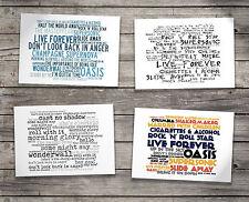 Gift Set Oasis Oversized Postcards & Art Folder Album Lyrics Music Poster Prints