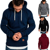 Men's Winter Warm Outwear Sweater Coat Jacket Hoodies Slim Fit Hooded Sweatshirt