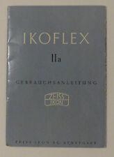 Gebrauchsanleitung Zeiss Ikon Ikoflex IIa als PDF oder Papierausdruck