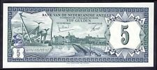 Netherlands Antilles: Bank of. Five gulden, 1-6-1972, PB 225952, (Pick 8b), EF.