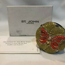 St. John Home Bottle Stopper Enameled Butterfly w/ AB crystals & Pearl New?