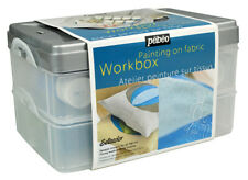 Pebeo Setacolor Opaque Tissu Peinture Workbox Set 10 X 45ml Couleurs &