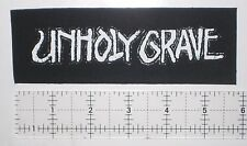 Unholy Grave Grindcore Metal Patch Dropdead Despise you Hellnation Nasum Infest