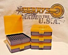22 lr (5) Ammo Box / Case / Storage (100) Round .22LR, .25 ACP (YELLOW COLOR)