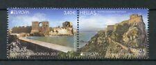 Greece 2017 MNH Castles Europa 2v Se-tenant Set Architecture Tourism Stamps