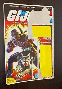 GI JOE (ARAH) -- Commando Snake Eyes (1985) -- Vintage CARD BACK Only (No AF)