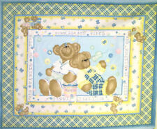 NEW LARGE BUTTERFLIES & BEARS PANEL FOR BABY QUILT HOME DECOR & NURSERY PROJECTS