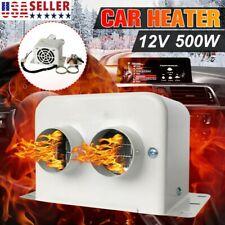Dc 12V 500W Portable Car Ceramic Heating Heater Fan Window Defroster Demister