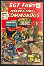 SGT.FURY HOWLING COMMANDOS #34 1966 GLOSSY SOLID FN+ ORIGIN OF THE HOWLERS!