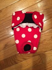 Female dog diaper-panties-QUILTED-Washable- LARGE DOTS ON RED by angelpuppi