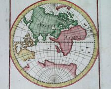 1719 RARE ANTIQUE MAP OF THE WORLD AUSTRALIA ASIA EUROPE AFRICA POLAND CHINA