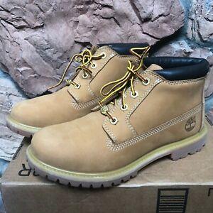 Timberland Nellie Women's 8.5 Waterproof Ankle Boot Wheat Yellow Chukka 23399