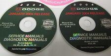 2004 DODGE RAM DURANGO DAKOTA VIPER NEON SERVICE & DIAGNOSTICS MANUALS 2-DISC
