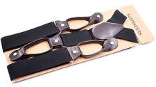 Button Holes Link Men's Suspenders Black Color M-braces Gentleman business suit