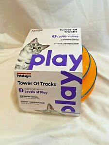 Petstages Cat Tracks Cat Toy - 3 Fun Levels of Interactive Play - Circle Track