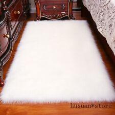 Solid Carpet Living Room Rectangle Fluffy Mat Pad Anti-Slip Plain Area Rugs New