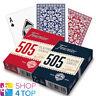 Fournier 505 Recubierto de Plástico Poker Juego Baraja Cartas Rojo Azul Estándar