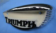 Triumph Motorcycle Gas Petrol Tank Badge 1966-68 Bonneville Tr6 T120 T100 6T Nos