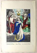 Lithographie aquarellée, l'Ascension, Imagerie Fr. WENTZEL