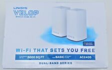Linksys Velop AC2400 Dual-Band Mesh Whole Home Wi-Fi System VLP0102 (2 Pack)
