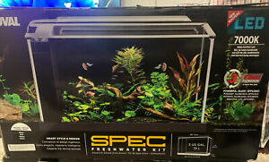 Fluval Spec  Aquarium 5 gallon  Black  Desktop Glass Aquarium