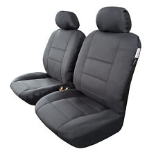2pcs Black Outback Canvas Front Car Seat Cover For Triton Dual Cab MQ ML MN